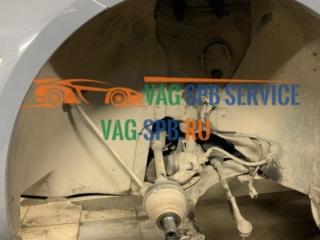 VW Caddy lll замена передних амортизаторов в СПБ